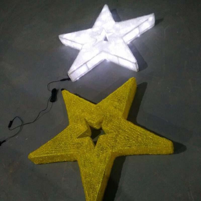 Đèn LED trang trí Giáng sinh ấm áp Đèn LED trắng Sao