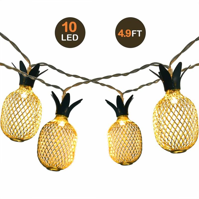 LED LED 10LED Ánh sáng chuỗi dứa trắng ấm