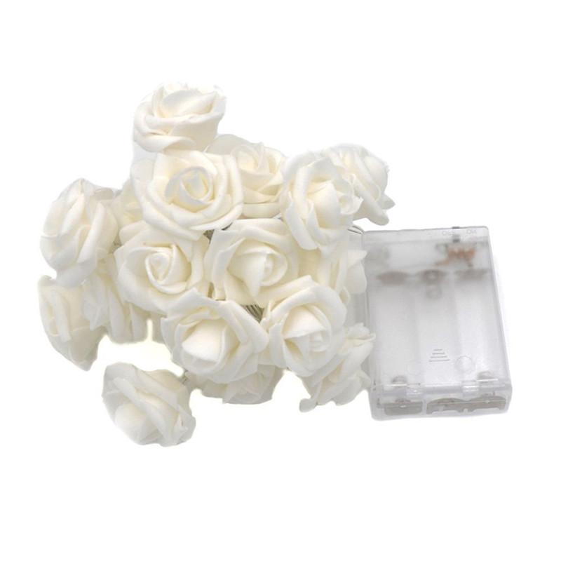 10/20 LEDs Hoạt động bằng pin LED Hoa hồng Chuỗi ánh sáng Giáng sinh Fairy Light Valentine Wedding Holiday Party Trang trí