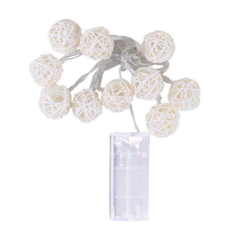 10 đèn LED dây 1.2M Câu chuyện cổ tích được trang bị ngoài trời Màu trắng ấm áp cho lễ hội Xmas trang trí tiệc cưới