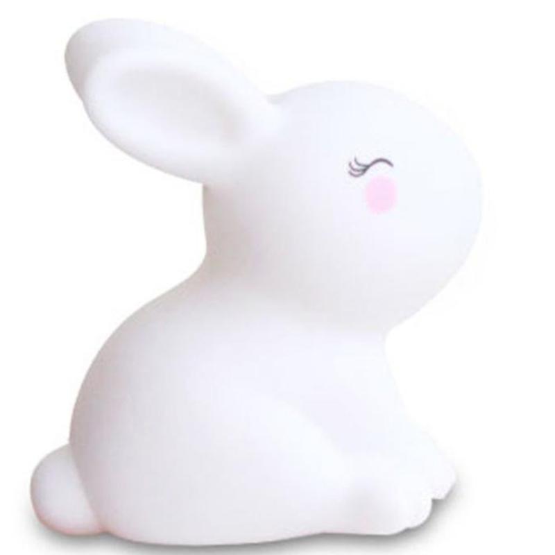 Giữ keo nhỏ thỏ trắng trang trí đèn đêm