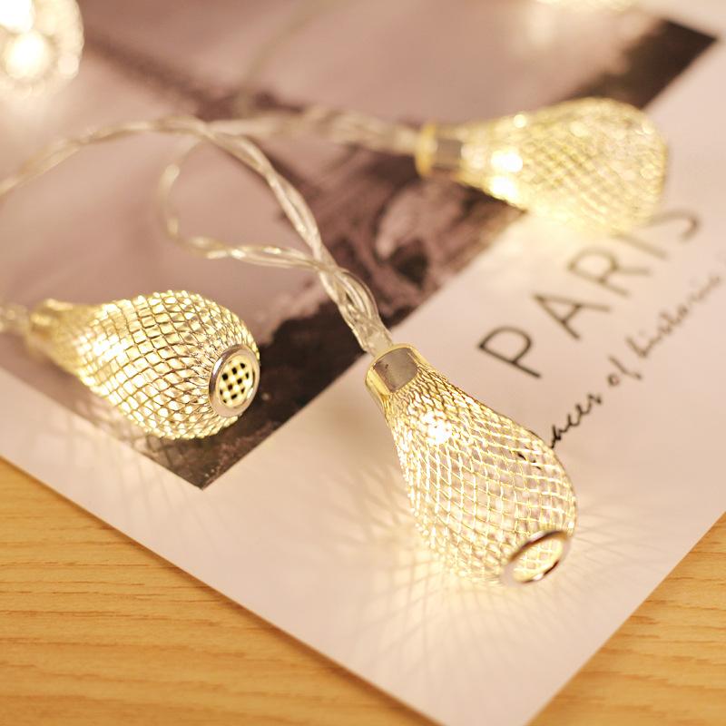 Đèn LED 10/20/40 Đèn dây, Đèn hoạt động bằng pin Giáng sinh, Đèn lồng thả nước rỗng cho Xmas Lễ hội đám cưới Kích thước trang trí: Vàng 40 LED