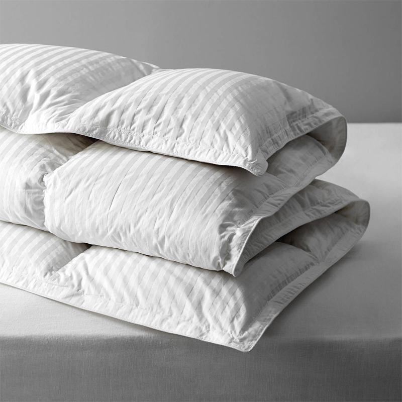 Vịt trắng 90% Duvet với vải sọc Damask 1cm