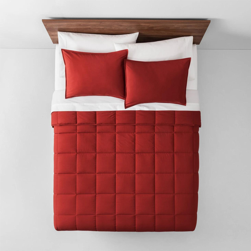 Rắn màu quilted Hollow Fiber Comforter