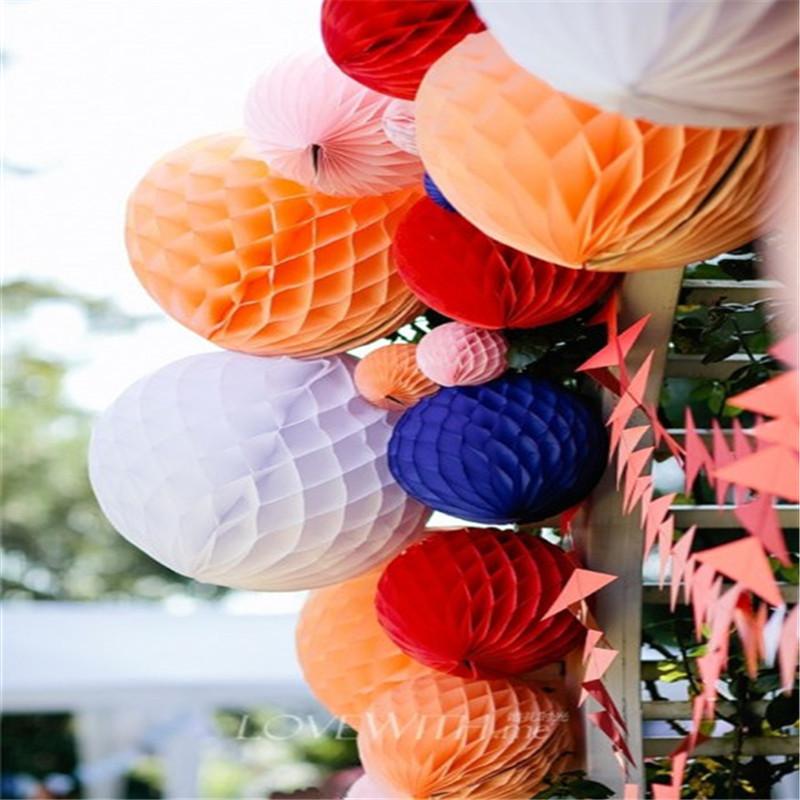 Bộ trang trí tiệc bao gồm Pom hoa tròn mô giấy Quạt đầy màu sắc khắc cho sinh nhật