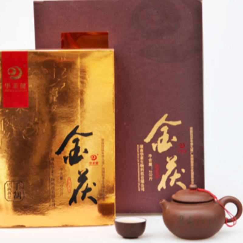 2000g vàng fuzhuan hunan anhua trà đen chăm sóc sức khỏe