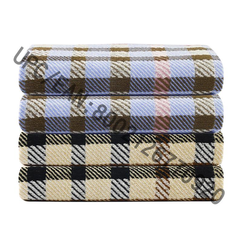 Bộ khăn tắm JMD DỆT, Bộ khăn tắm sọc 4 miếng kiểu Anh, Khăn tắm lớn 100% Cotton, Khăn tắm Hồ bơi Phòng tập thể dục Khách sạn, Phụ kiện phòng tập thể đại học, Khăn màu nâu Khăn xanh