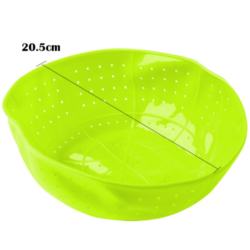 Silicone đa năng giỏ rò rỉ giỏ trái cây hấp rau rửa bằng silicone asphaltener
