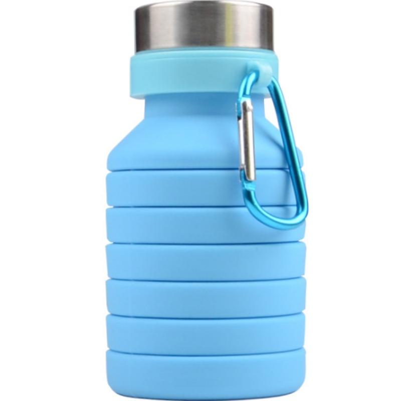 Silicone nén cốc thời trang silicone thể thao ấm đun nước sáng tạo silicone cốc kính thiên văn có thể được tùy chỉnh logo