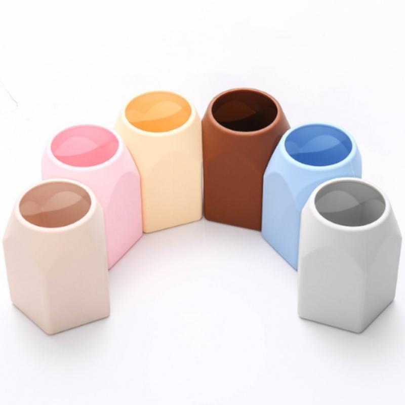 Silicone trang điểm ống Sáng tạo đơn giản penholder silicone trang điểm bút văn phòng cung cấp bộ sưu tập thực tế của đồ trang trí nhà penholder đồ nội thất nhỏ