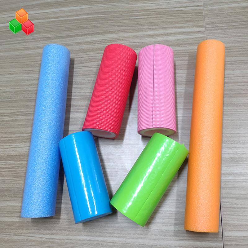 Hình dạng tùy chỉnh màu sắc logo ống siêu mềm rỗng PVC PVC EPE ống tròn xốp cho thiết bị / bao bì sân chơi trong nhà