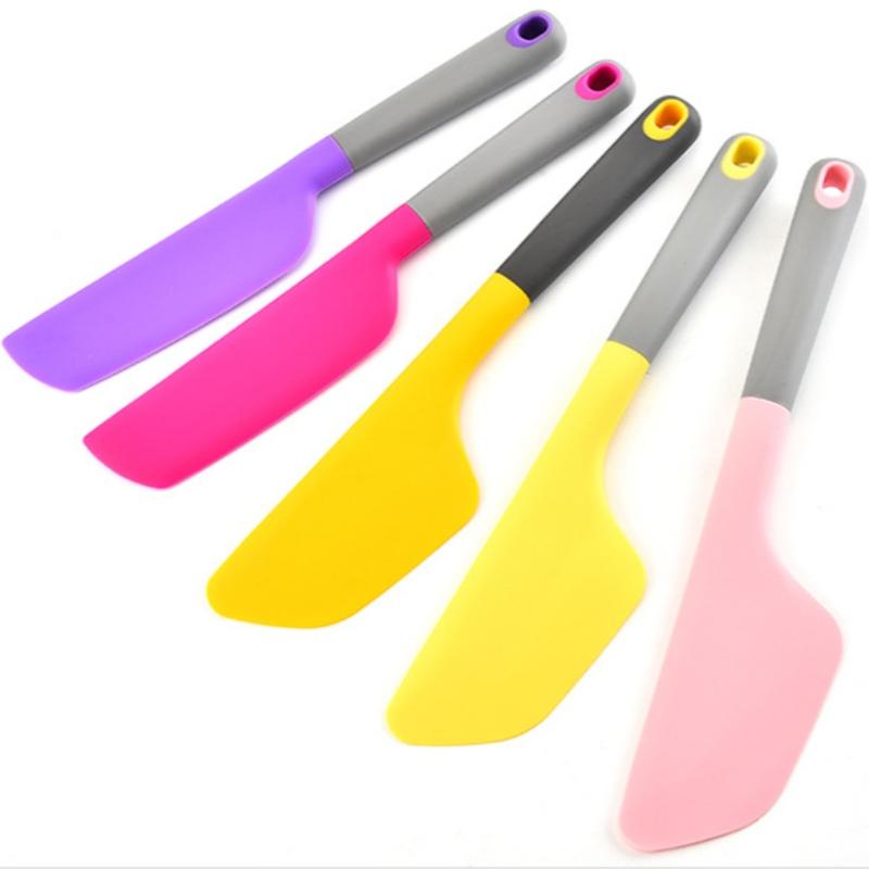 Dụng cụ nạo silicone an toàn màu lớn, dụng cụ làm bánh đa năng chất lượng cao chịu nhiệt độ cao.