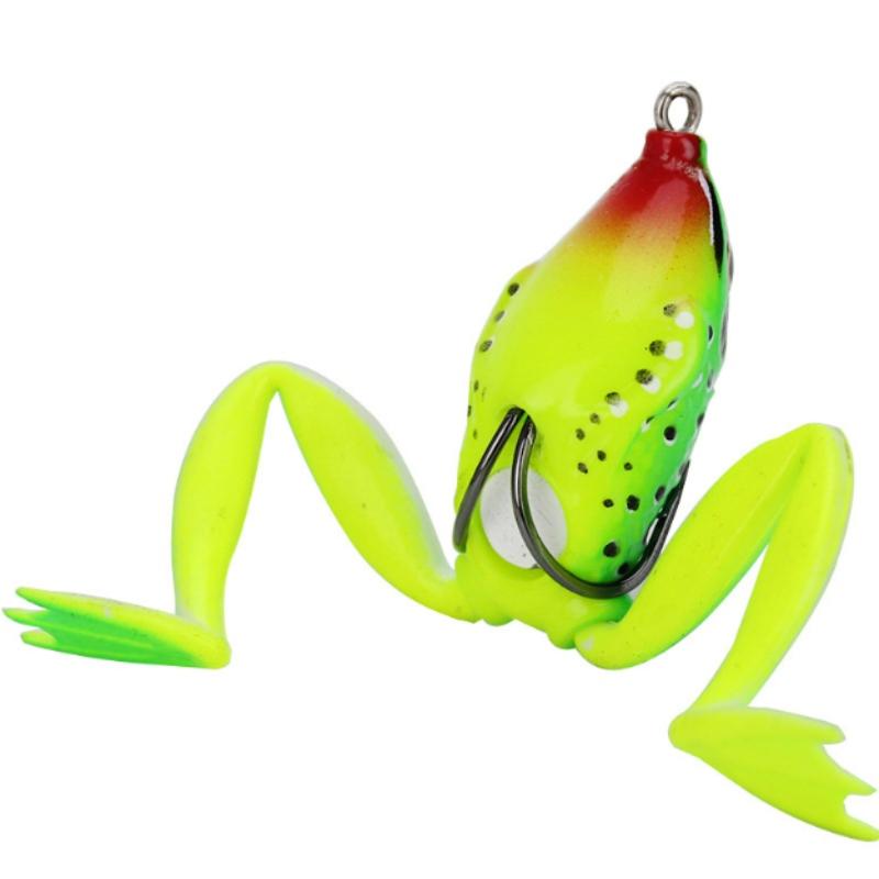 Ếch silicone mô phỏng Lei ếch đường mồi nhử mồi giả mồi móc đôi mồi câu cá đen chuyên giết chết ngư cụ