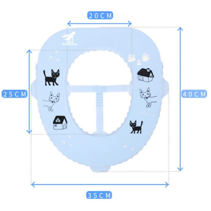 Mới silicone kháng khuẩn nhà vệ sinh pad nhà vệ sinh không thấm nước dễ dàng làm sạch du lịch nhà vệ sinh di động vòng ghế