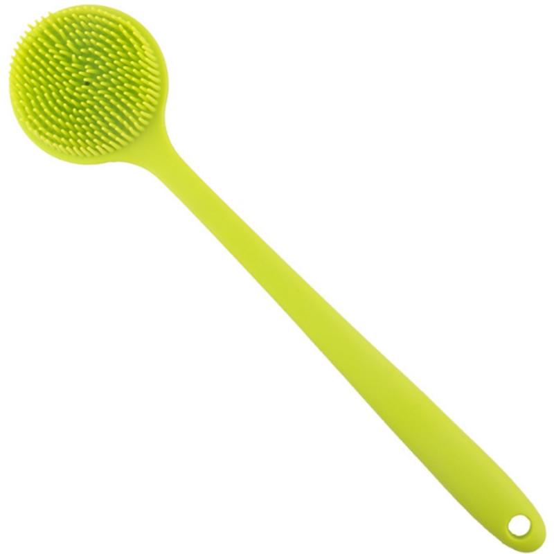 Bàn chải tắm silicon dài tay cầm bồn tắm tạo tác đa năng tay cầm dài