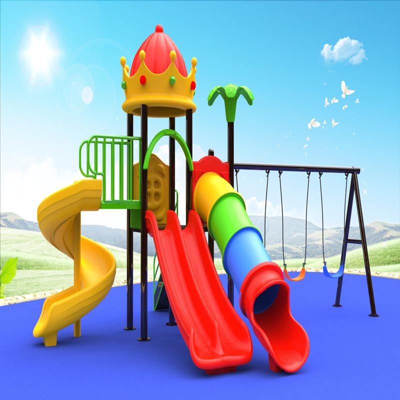 ngoài trời mái nhà chơi thiết bị sân chơi với trẻ em trò chơi trượt cho trẻ em